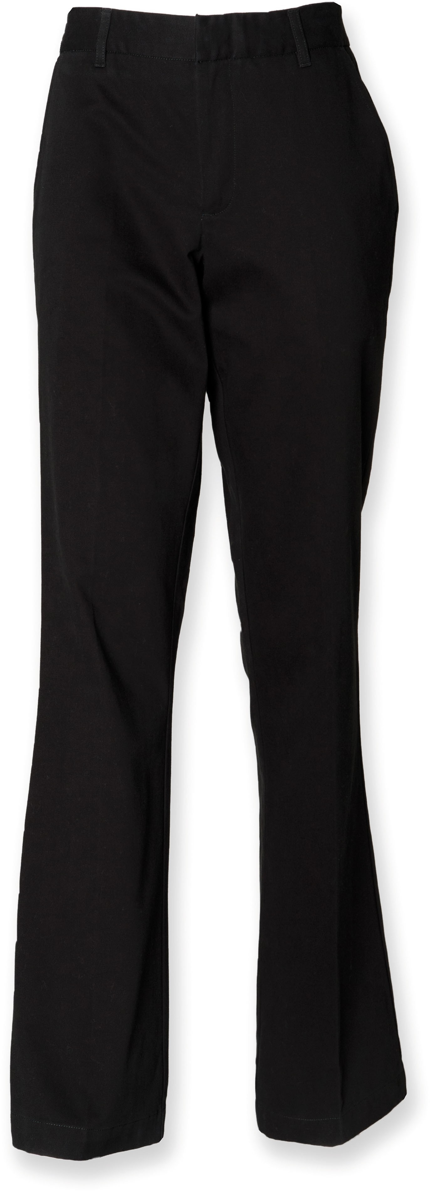 Ladies 65/35 Flat Fronted Chino Trousers
