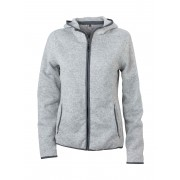 Ladies' knitted fleece hoody