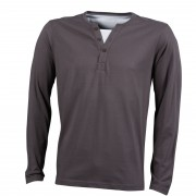 J&N men's henley shirt