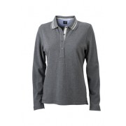 J&N ladies's polo long-sleeved