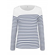 Striped ladies T-Shirt Longsleeve