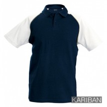 Kariban tweekleurig kids polo